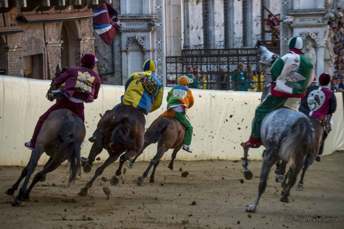 Tight Turn, Palio, Siena, Italy
