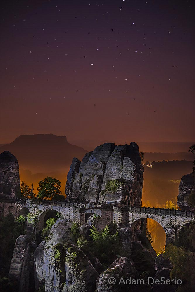 Bridge Of Bastei At Night, Germany