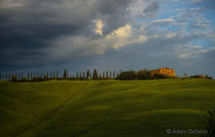 Last Light On House, Tuscany