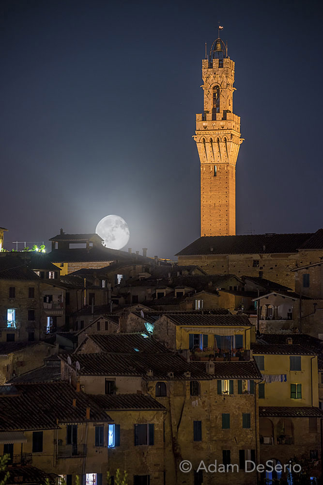 Siena Moonrise, Italy