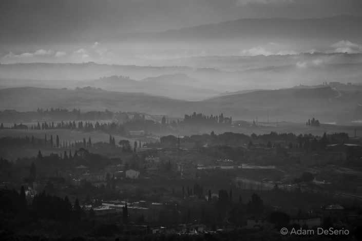 Siena Tuscany View Black and White, Italy