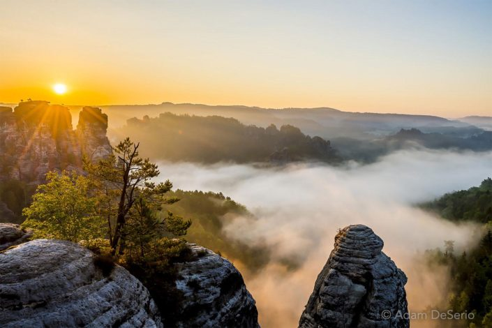 Sunrise At Bastei, Germany