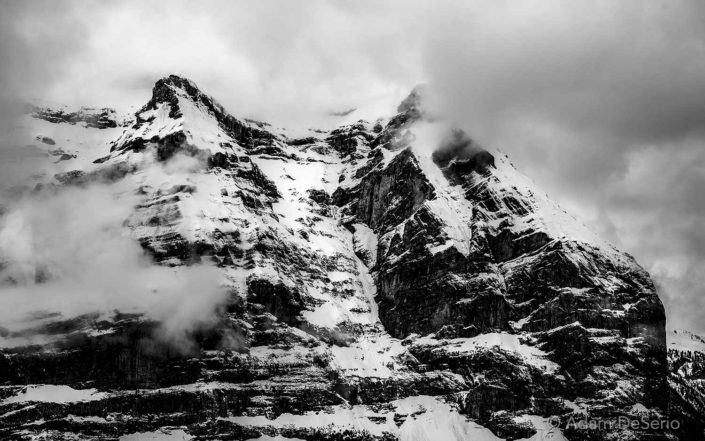 Swiss Alps BW