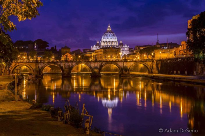 The Vatican At Night, Rome, Italy
