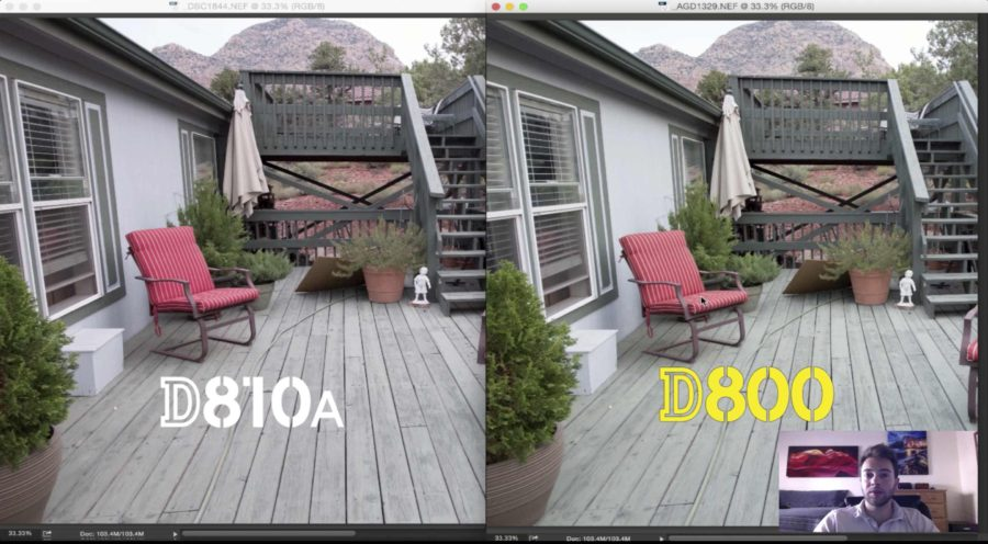 Compare Color D810A vs D800