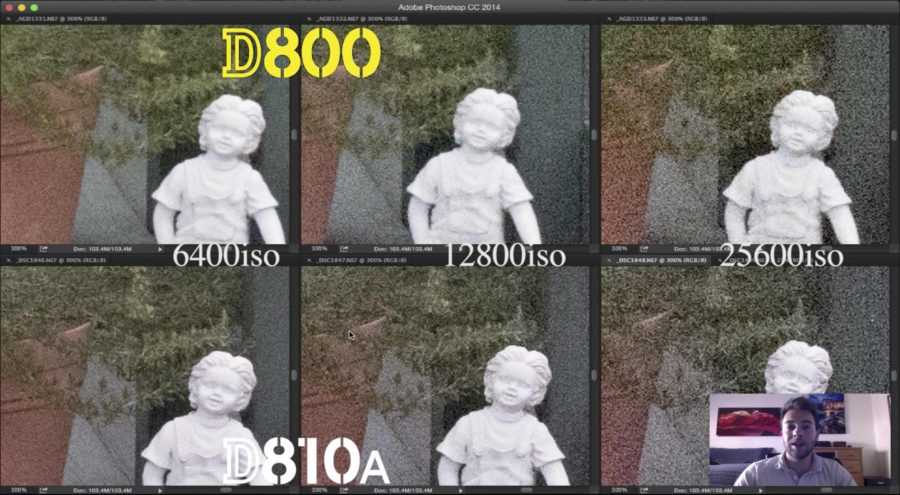 Compare ISO D800 vs D810a Zoom