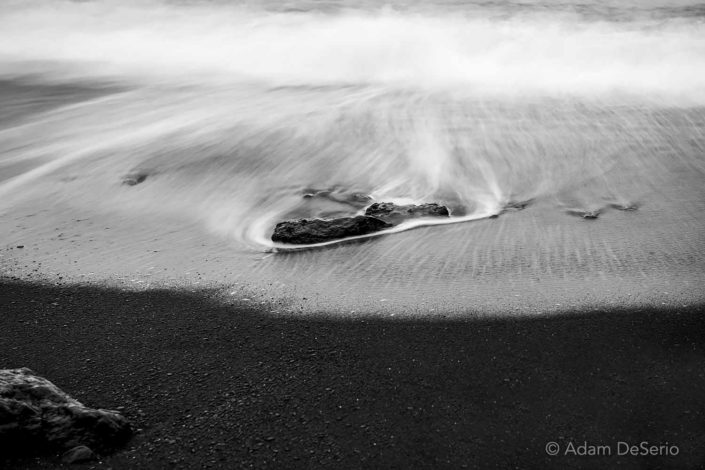 Rushing Stone Black and White